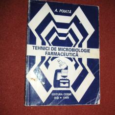 Tehnici de microbiologie farmaceutica - A.Poiata - Carte Farmacologie