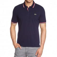 Tricou Lacoste Polo Slim Fit barbatesc Bleumarin - 100% Original - Marime M - Tricou barbati Lacoste, Marime: M, Culoare: Din imagine