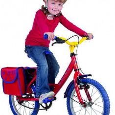 Geanta portbagaj pentru bicicleta copii, 22, 5x10x24cm, rosu/albastru