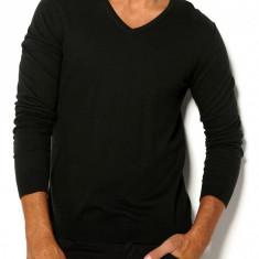 Pulover premium 100% bumbac - SELECTED - art 16030513 negru - Pulover barbati Selected, Marime: L, XL