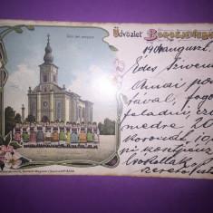 Ineu - Litografie - Carte Postala Crisana 1904-1918, Circulata, Fotografie