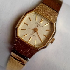Orient VX, ceas de dama placat cu aur - Ceas dama Orient, Elegant, Quartz, Inox, Analog