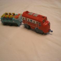 Chuggington - Wilson cu vagon cu sunete si lumini - Trenulet de jucarie Learning Curve, Metal