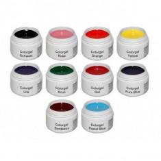 Gel UV Color NDED Germania - Set 10 Bucati - Gel unghii