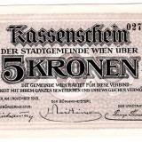 Austria Viena WIEN 5 KRONEN 1918 NOTGELD UNC, An: 1918