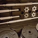 Gantere/Haltere - Vând set complet de gantere și greutăți pentru antrenament