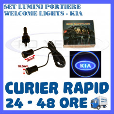 SET 2 x LUMINI LOGO LASER KIA GENERATIA 6 (12V, CAMION 24V) - LED CREE 7W - Logo Marca ZDM