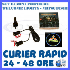 SET 2 x LUMINI LOGO LASER MITSUBISHI GENERATIA 6 (12V, CAMION 24V) - LED CREE 7W - Logo Marca ZDM