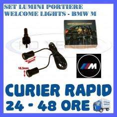 SET 2 x LUMINI LOGO LASER BMW M TYPE GENERATIA 6 (12V, CAMION 24V) - LED CREE 7W - Logo Marca ZDM