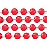 Decoratiuni nunta - Ghirlanda cristale, rosu, 1m
