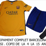 ECHIPAMENT FOTBAL COPII 4/6 ANI, BARCELONA-MESSI, LIVRARE GRATUITA - Set echipament fotbal Nike, S