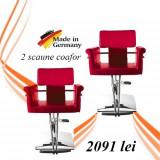 Scaune coafor Red Lux - pachet 2 scaune