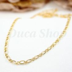 Lant Placat cu Aur 18k, model Zale 1 + 1, cod 272 - Set bijuterii placate cu aur