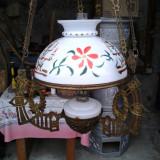 Lampa cu abajur pictat evreeasca, cu bila reducere, Lampi