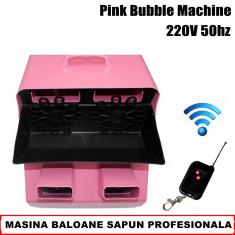 Masina de balonase - MASINA BALOANE SAPUN PROFESIONALA, TURBO, 4 MOTOARE, CU TELECOMANDA, CLUB, DJ, NUNTI.