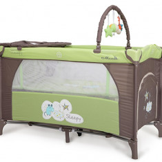 Pat copii - Patut Pliant Bebe Moni Sleepy Verde