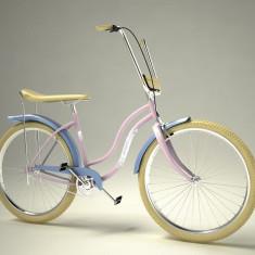 Bicicleta retro - Pegas Strada 2 - 3 viteze, Roz