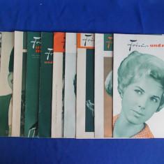 LOT 10 REVISTE SUPLIMENT * FRIZURI SI MODA - LEIPZIG - 1962/1964 - Revista moda
