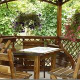 Gradinarit - Masa lemn + 6 scaune