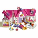 Animal de plus - Set constructie Unico PLus Hello Kitty Casuta mare cu ferma 136 piese