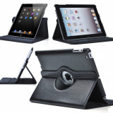 Husa iPad Air Rotativa 360 grade Neagra - Husa Tableta