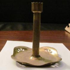 CY - Sfesnic vechi, din alama, foarte frumos, cu patina timpului