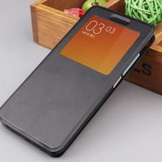 Husa Xiaomi Redmi Note 3 S-VIEW Neagra - Husa Telefon