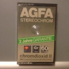 Casete Audio AGFA STEREO CHROME 60 +6 min - SM HIFI - made in GERMANY - Casetofon