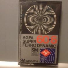 Casete Audio AGFA SUPER FERRO DYNAMIC 60 +6 min - SM - made in GERMANY - Casetofon