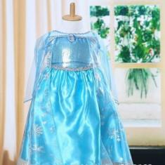 Model1 Rochita printesa Elsa rochie Frozen 3, 4, 5, 6, 7 ani, Culoare: Albastru