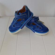 Sandale copii - Sandale piele baieti Blue 404 (Culoare: albastru, Marime incaltaminte: 20)