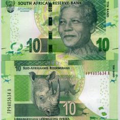 AFRICA DE SUD- 10 RAND 2015- NELSON MANDELA- P 133- UNC!! - bancnota africa