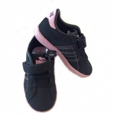 Adidasi copii - Adidasi cu siret si adeziv Oval Roz, marimea 28 Lonsdale