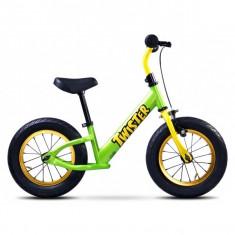 Bicicleta copii - Bicicleta fara pedale Twister Green Toyz