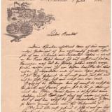 Scrisoare a fabricantului de bere C. H. Oppler, Bucuresti 1889