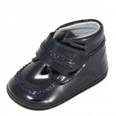 Ghete copii - Ghetute bleumarin din lac 17 (10 cm) Leon Shoes