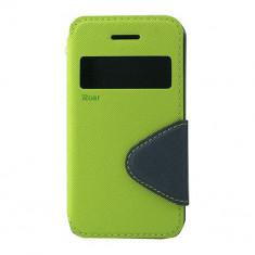 Husa Atlas, Verde, Textil, Toc - Toc My-WinFancy iPHONE 4/4S Lime/Albastru