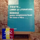 "Manual Clasa a VIII-a, Romana - Sofia Dobra - Teste de limba si literatura rom pt rec fin din cls VIII ""A3061"""