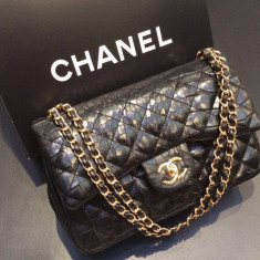 Geanta Dama Chanel, Geanta de umar, Bumbac - GENTI CHANEL JUMBO printed leather 2016 COLLECTION