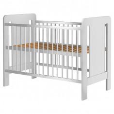 Patut Copii Din Lemn Hubners Hannah 120X60 Cm Alb - Patut lemn pentru bebelusi
