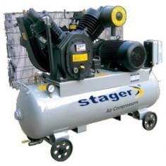 Compresor electric - Stager 07V V-1.00/8 - Compresor cu butelie 190L