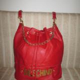 Geanta dama tip rucsac rosie Moschino+CADOU