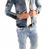 Geaca barbati - Geaca de blugi tip ZARA - geaca slim fit - geaca fashion LICHIDARE DE STOC 6313