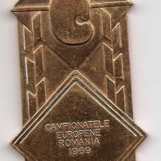Medalie Campionatele Europene Romania 1969 - 40x87 mm (MB-19) - Medalii Romania