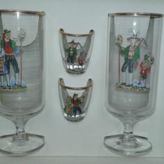 Set pahare vechi de colectie Franta