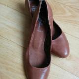 Pantofi din piele firma Bata marimea 38, sunt noi!! - Pantof dama Bata, Culoare: Maro, Piele naturala