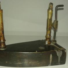 Fier de calcat din bronz vechi - Metal/Fonta