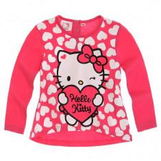 Bluza Hello Kitty roz cu inimioare albe