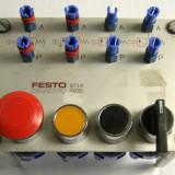 Panou de la Festo Didactic cu 2 push buton-uri buton panica si comanda pneumatice(860)