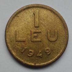 Monede Romania - 1 leu 1949 cupru alama RPR moneda Romania numismatica bani vechi